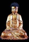Buda de la dinastía Qing. Colección del museo oriental de Valladolid