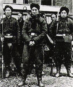 Soldados bóxers en una fotografía de 1900