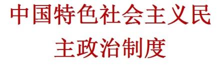 Zhōngguó tèsè shèhuì zhǔyì mínzhǔ zhèngzhì zhìdù